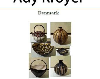 e-book, Ady Kroyer - 1960's, 1970s Danish Potter - Digital Download PDF