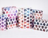 Deep Space Heart Gift Wrap / 12 Sheets