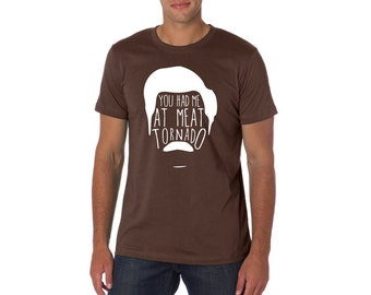 Parks and Rec Inspired Ron Swanson T-shirt - Meat Tornado - Unisex Adults - Funny Gift