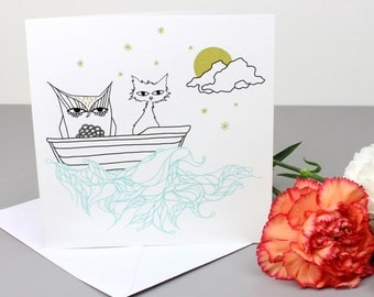 Owl & The Pussycat Greetings Card