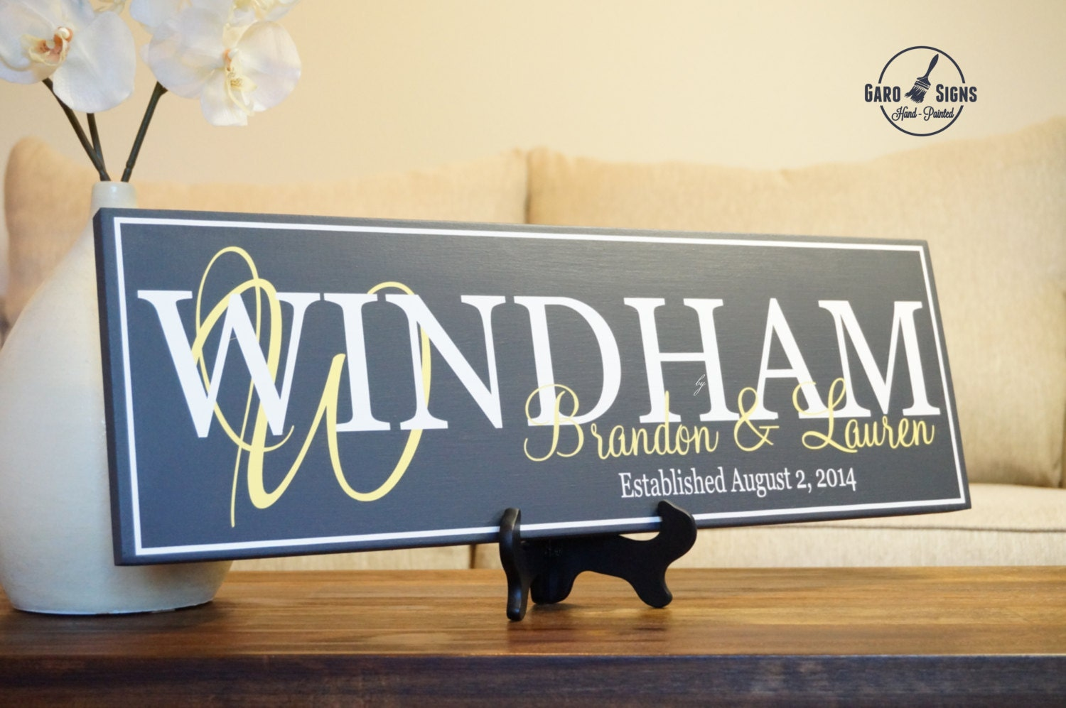 how to make a family name established sign