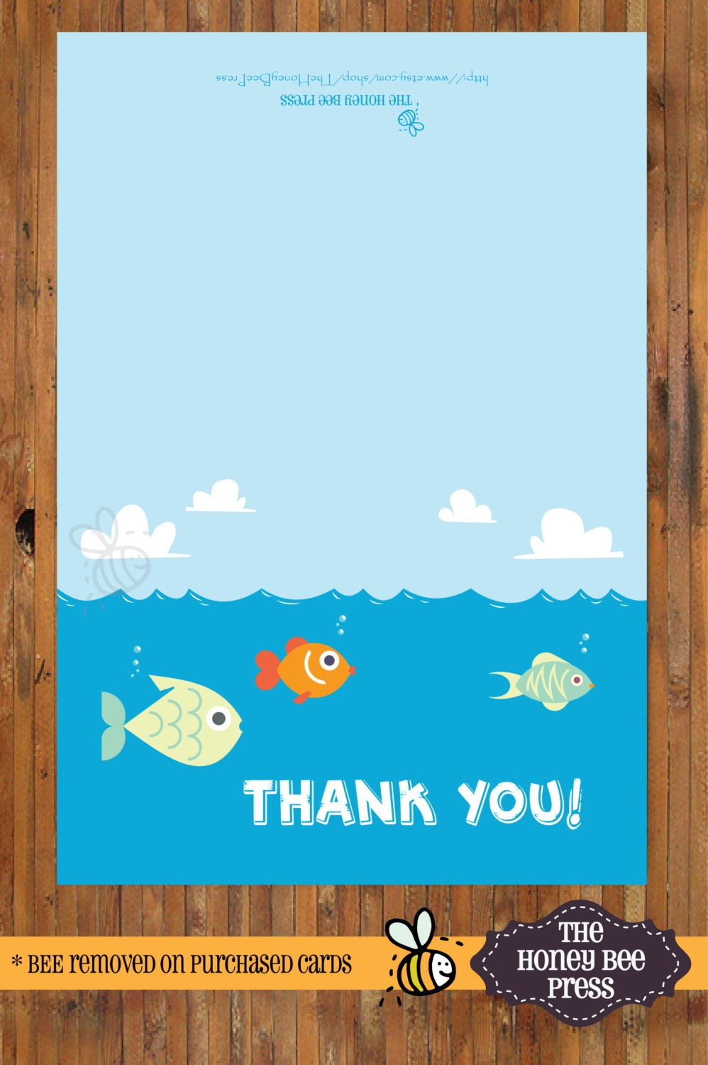 Under The Sea Thank You Note Fish Thank You Card Thank You