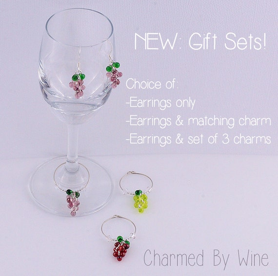 Wine Charm Gift Set - Charmed By Wine