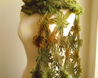 flower scarf - Forest