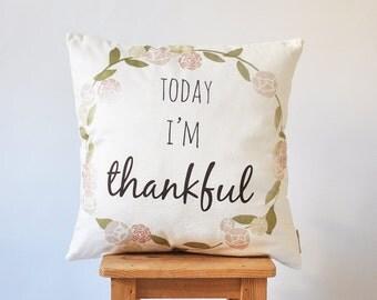 """ON SALE Thanksgiving Pillow, Decorative Pillow, Kids Pillows, Nursery Pillow, ModernThrow Pillow, 16"""" x 16"""""""