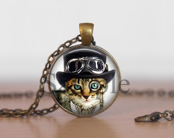 Steampunk Cat,  Steampunk Necklace, Steampunk Jewelry