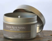 Black Fig & Honey Soy Candle Tin 4 oz. - honey candle - bakery candle - food candle - fig honey candle - sweet candle - fig candle