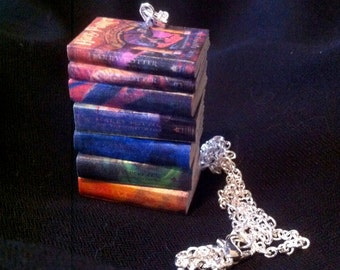 Harry Potter Mini Book Stack Necklace
