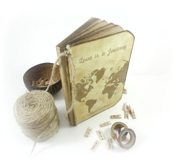 Destination Wedding Guest Book, Gift for Couples, Travel Guestbook ...
