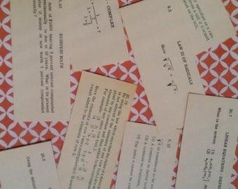 2 Dozen Vintage Algebra Flash Cards