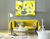 INTRO SALE Yellow and Gray Abstract Art abstract design Art Print Bathroom decor yellow grey Living or family room art