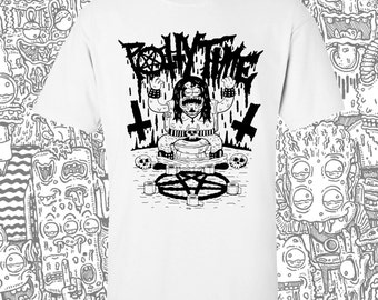 Heavy Metal Black Metal Potty Time Shirt in White