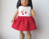 American Girl Mini Doll 6 1/2 Inch Doll Dotted Cherry Dress 16 cm dolls Lati Yellow Pukifee