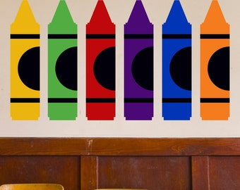 Crayons - Wall Decal Custom Vinyl Art Stickers