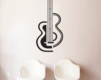 Guitar Vinyl Decal Etsy - Custom vinyl decals for guitars