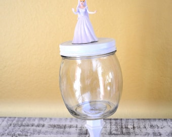 Cinderella Candy Jar on Pedestal - ready to ship