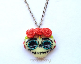 Super Cute Mexican Skull Necklace