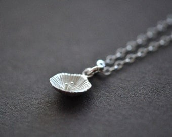 Tiny Spring Flower Necklace - Sterling Silver Flower Necklace - Spring Blossom Nature Jewelry - Gift For Women - Nature Jewelry