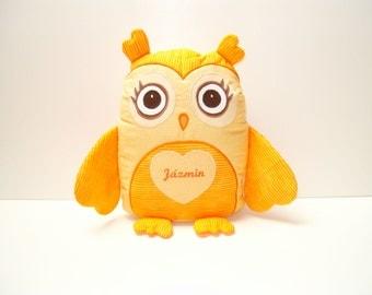 Handmade Owl Pillow, Decorative Cuddly Toy