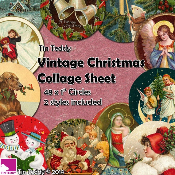 Tin Teddy Vintage Christmas Circles