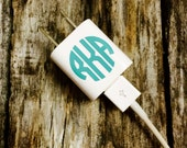 iPhone iPad iPod Charger Monogram Decal Sticker Free Shipping in USA