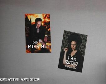 Inspired *Sherlock*, Set of 2 Artwork Magnets