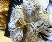 Old Mexican Filigree Rose- 800 Silver- Big & Gorgeous Pin!!