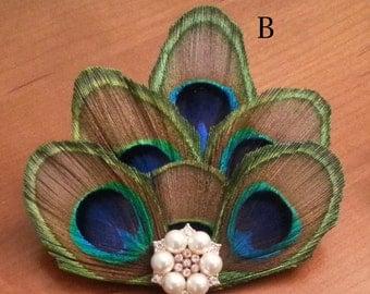 Elegant Peacock Barrette