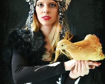 Black, white, High fashion,costume,Embellished,headpiece,headdress,Bodysuit,Leotard,crown,Performance,Runway