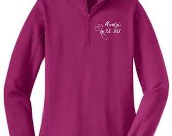 Zippered Pullover, Stethoscope Sweatshirt, Zip Pullover, Nurse, RN, LPN, BSN, Half Zip Sweatshirt, Zip Sweatshirt, Nurse Shirts, Gift
