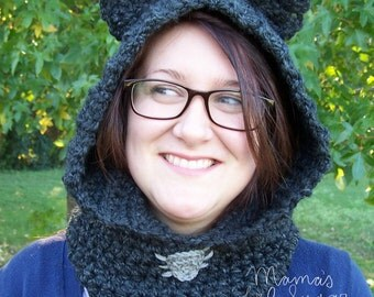 Kitty Cowl, Cat cowl, Cat scarf, Kitty Scarf, Animal Scarf, Animal Cowl, Girls Cowl, Ladies Cowl