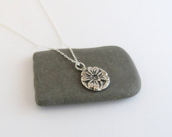 Sterling silver chain, sterling silver 4-leaf clover pendant, shamrock charm, silver jewelry, gift, wedding gift, anniversary gift  (N7)