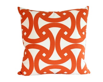 Outdoor Schumacher Santorini Orange Pillow Cover
