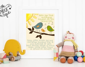 INSTANT Download, Three Little Birds Printable, No. 94