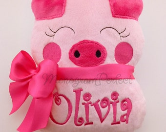Chubby Personalized Pig Stuffed Animal Soft Toy Pillow