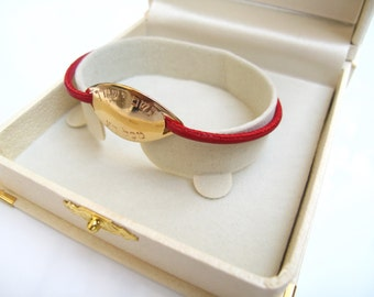 kabbalah red string 14k gold plated bracelet amulet the lord shall keep you from all evil handmade
