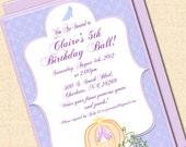 Printable Cinderella Inspired Digital Invitation