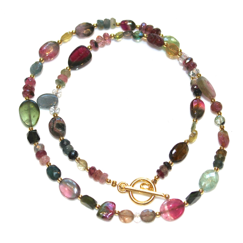 watermelon tourmaline slice necklace tourmaline jewelry