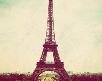 Paris landscape photograph, photo of Paris, travel photography, Eiffel Tower picture, vintage - Paris is Always a Good Idea