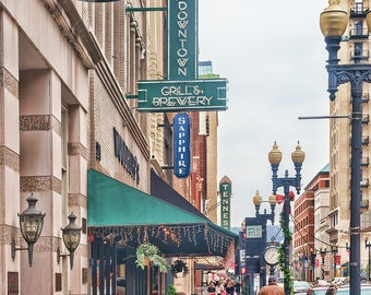 Knoxville Tennessee Cityscape Downtown Marquee Sign City Urban Americana America Travel Main Street Small Town Art Photo  Print