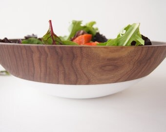 Large 15 inch Wooden Serving Bowl by Wind and Willow Home, Walnut Wood, salad bowl, wooden salad bowl, pasta bowl, summer entertaining