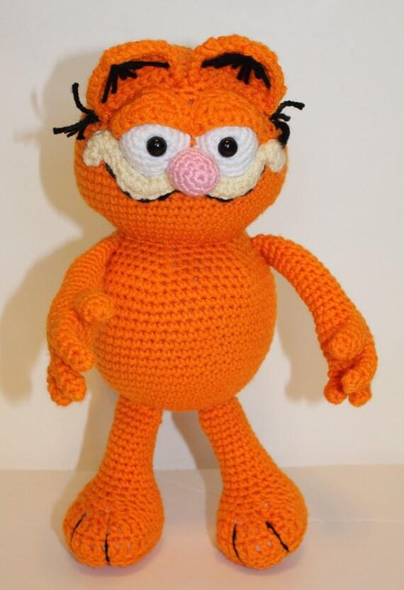 Amigurumi Free Patterns Garfield : PDF PATTERN: Garfield the Cat Crochet Pattern