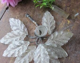 Victorian Glass Leaf Vase