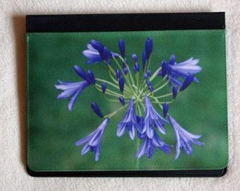 iPad case, flower iPad cover, purple flower iPad case, mobile accessory, tablet cover, flower tablet case, iPad 2, iPad 3, iPad 4