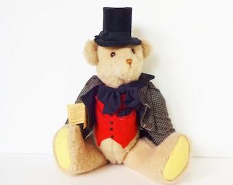 Vintage Large Collector's Teddy Bear Stuffed Animal