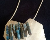 Blue Kyanite Sterling Silver Necklace
