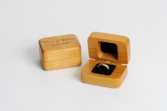 Ring box ring storage personalized ring box wedding ring for Custom engagement ring box