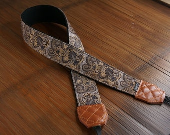 Personalize Camera Strap - Damask for DSLR and Mirrorless