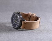 Leather Watch Strap Natural Leather Thumbnail Buckle