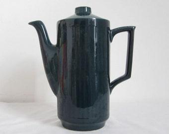 VIntage, Retro 1970's Coffee Pot - Teal Blue